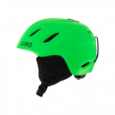 Helma juniorská Giro Nine JR - matte bright green - M