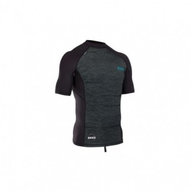 lycra top ION Men Maze SS black melange