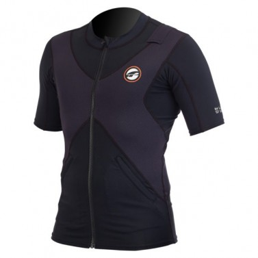 Triko SUP top pánské PRL SS - black/orange